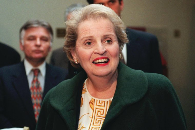 ALBRIGHT United Nations Ambassador Madeleine Albright smiles as she answers questions after a meeting of the Security Council, at the U.N. headquarters in New York. Albright is on the short list to replace outgoing Secretary of State Warren Christopher
