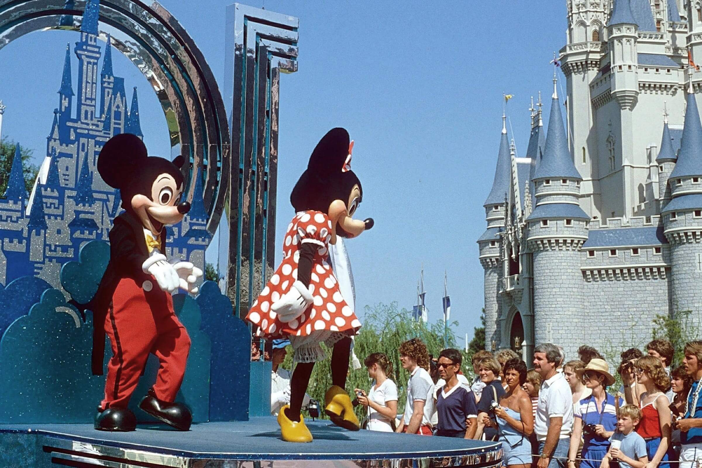MICKEY MOUSE ON FLOAT DURING THE CELEBRATIONS