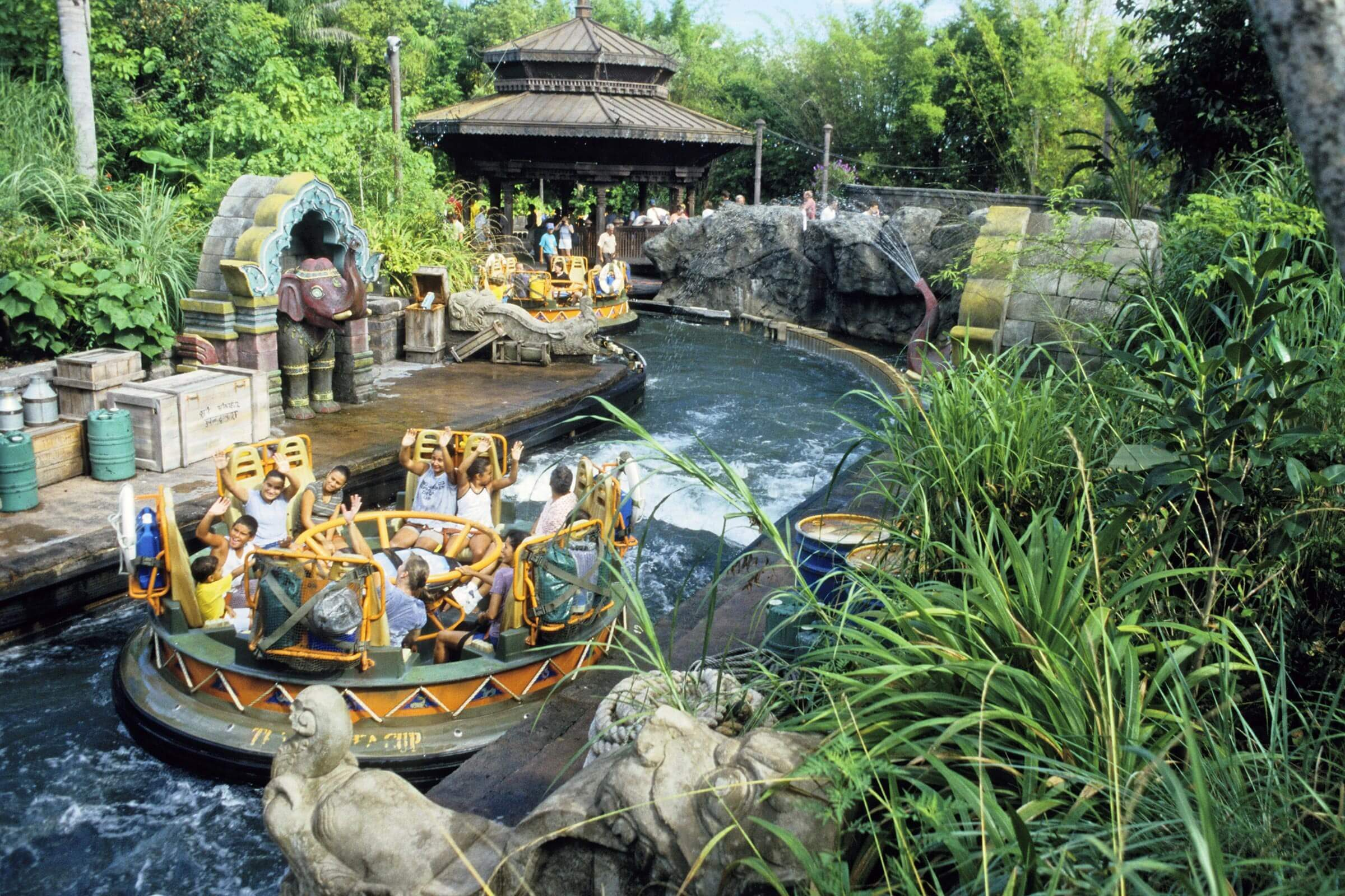 The Asian section of the Animal Kingdom at Disneyworld, Orlando, Florida, America