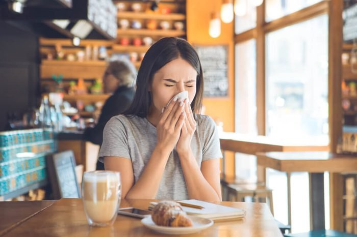Young woman sitting in a coffee shop leisure