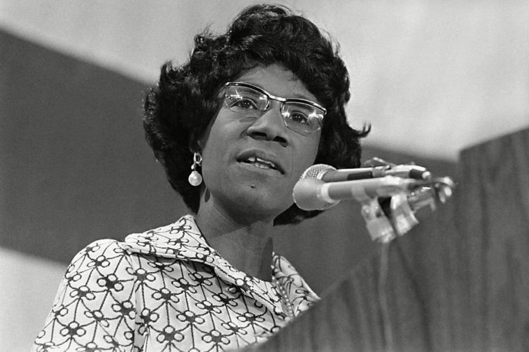 Shirley Chisholm Rep. Shirley Chisholm of New York presents her views in Washington, before the panel drafting the platform for the Democratic National Convention