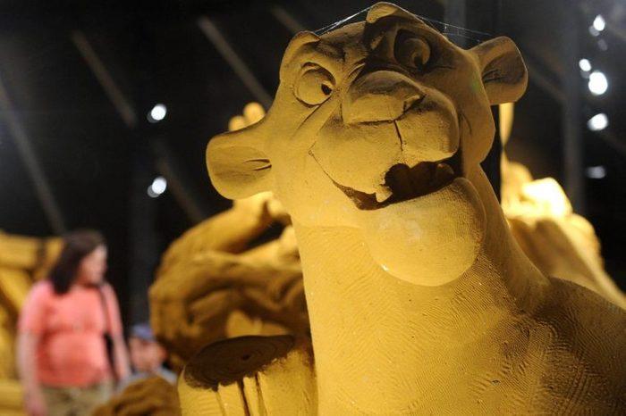 Lion King sand sculpture