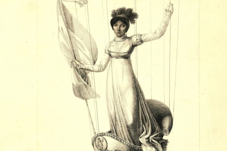 M.s. Blanchard, (madeleine Sophie Armand) French Aeronaut, 19th Century Engraving.