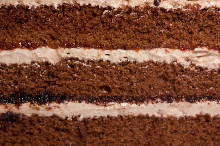closeup of the cream cake as a background
