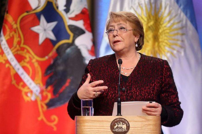 Argentinian president visits Chile, Santiago - 27 Jun 2017 Michelle Bachelet