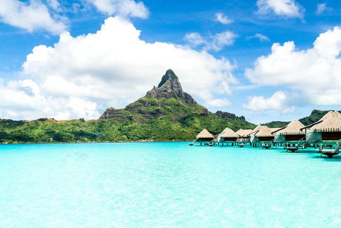 French Polynesia, Bora Bora and Moorea islands.