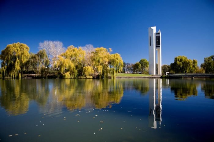The National Carillon located on Lake Burley Griffin in Canberra, Australia