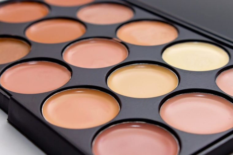 Concealers closeup.Set of decorative cosmetics for makeup, for contouring the face.