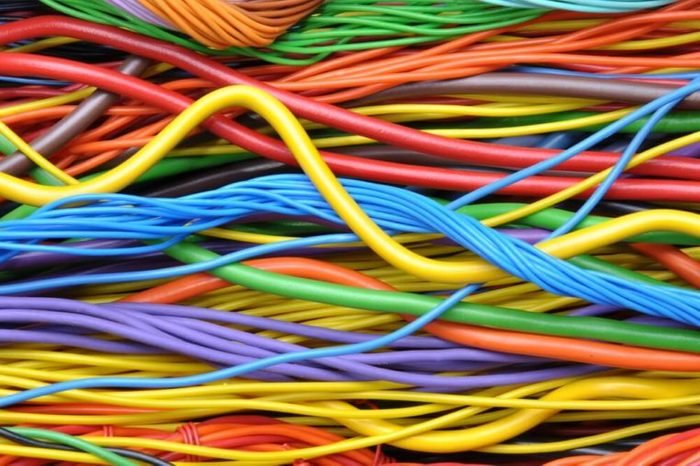 Colored electrical cables and wires