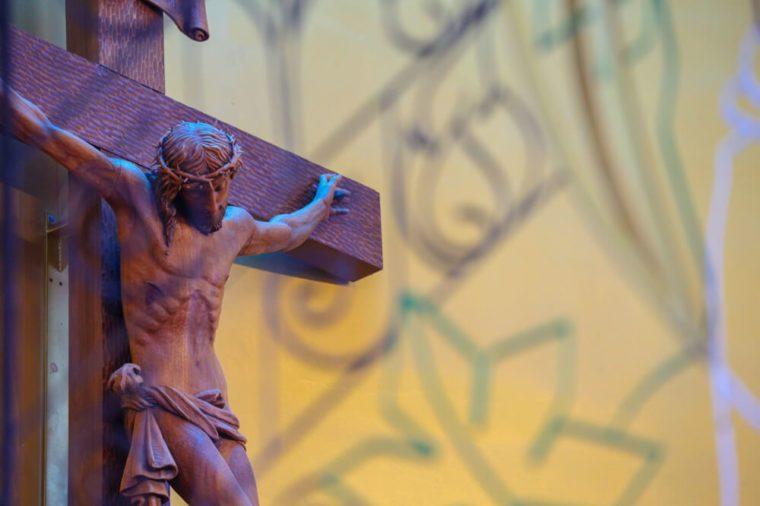 wooden crucifix Jesus Christ