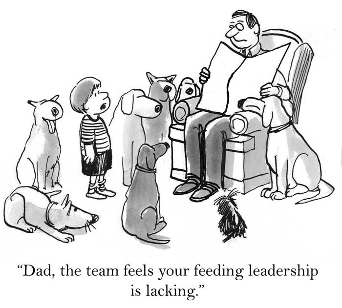 """""""Dad, the team feels your feeding leadership is lacking."""""""