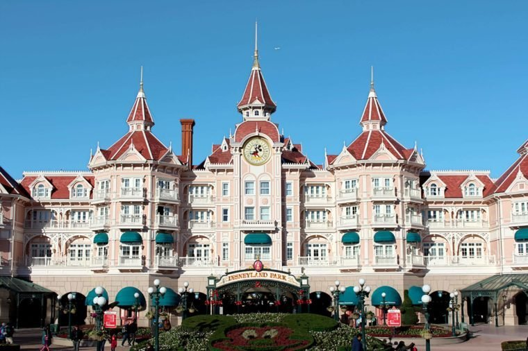 DISNEYLAND, PARIS - NOVEMBER 22, 2015: Disneyland Park in Paris, France. Disney is the first entertainment group in the world in 2012.