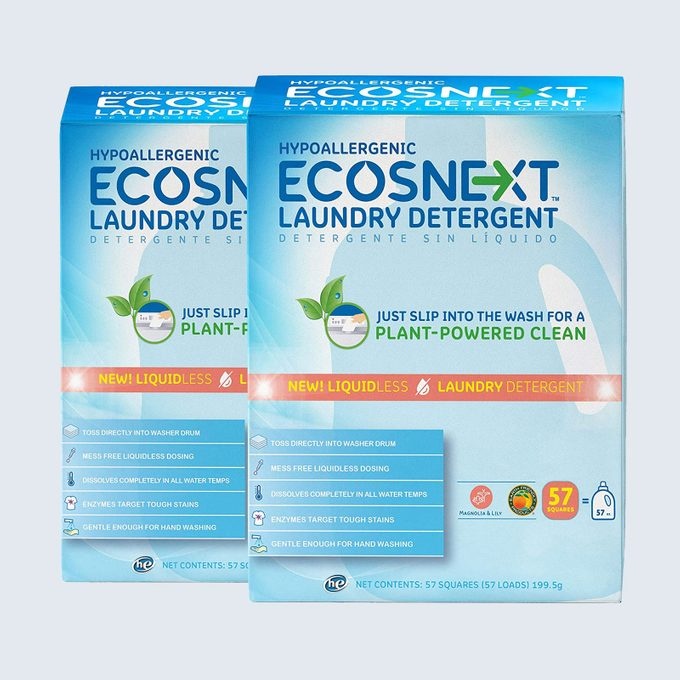Best detergent sheets: ECOS Liquidless Laundry Detergent