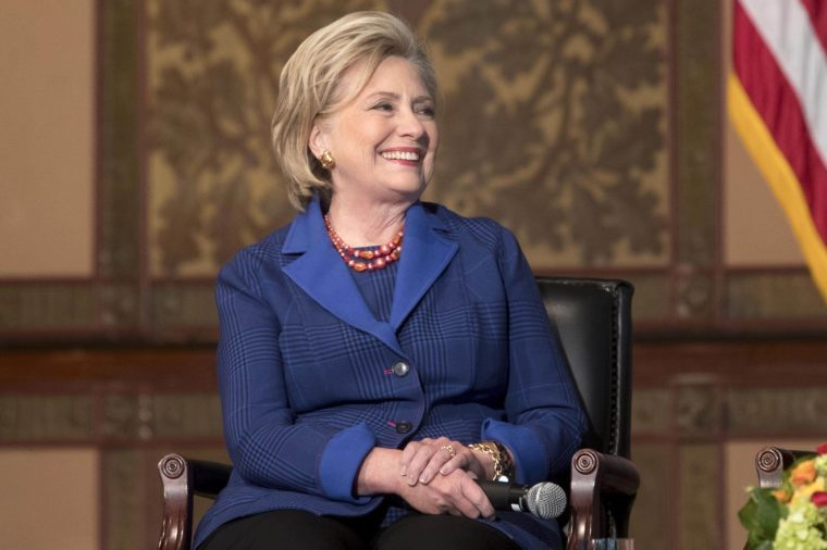 Former US Secretary of State Hillary Clinton presents human rights awards at Georgetown University, Washington, USA - 05 Feb 2018
