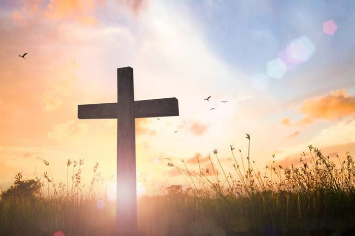 Background image for the church office: The Cross symbol of christian and Jesus Christ.