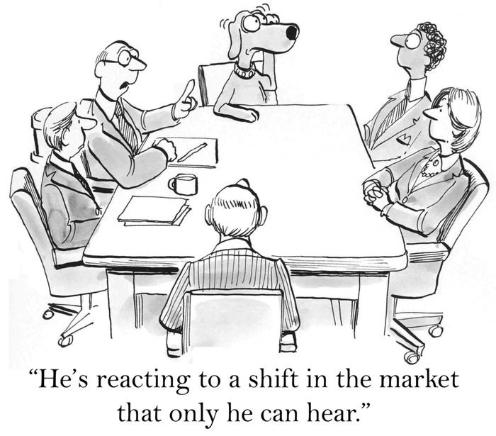 """""""He's reacting to a shift in the market that only he can hear."""""""