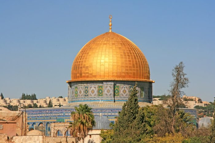 Dome of the rock, Jerusalem. The Dome of the Rock is located on the Temple Mount in the Old City of Jerusalem.