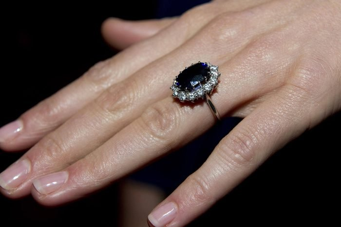 Kate Middleton's engagement ring which belonged to Princess Diana