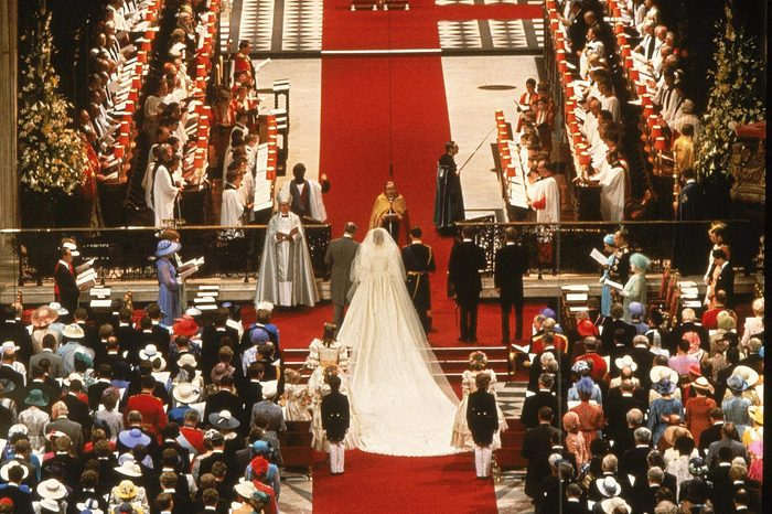 Lady Diana Spencer and Prince Charles take their vows at the High Altar at St. Paul's Cathedral in London, England on 29 Jul 1981