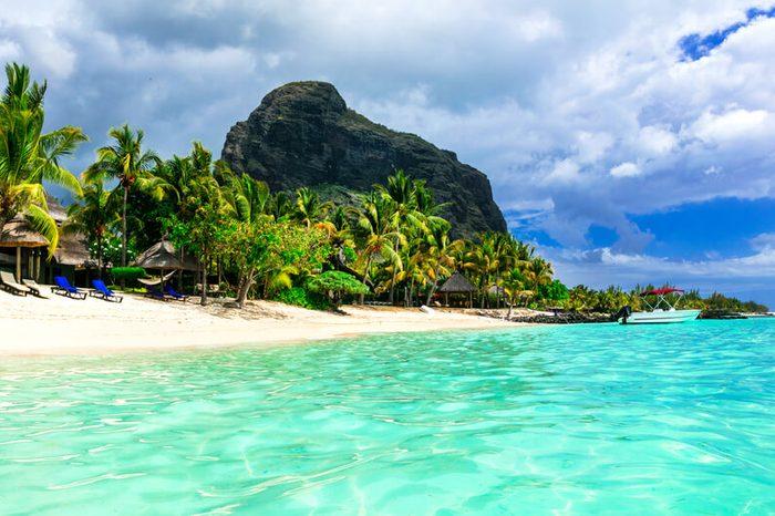 Mauritius island. beautiful Le Morne beach