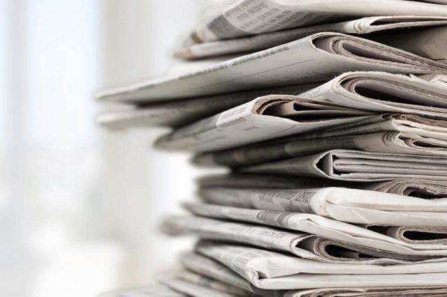 newspapers_junk in garage