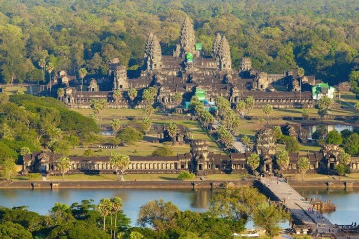 Aerial view of Angkor Wat