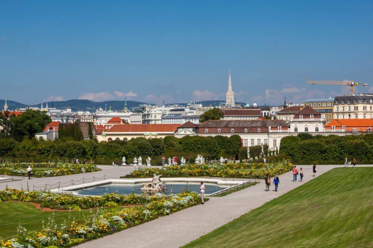 Territory of Belvedere Palace, Vienna, Austria