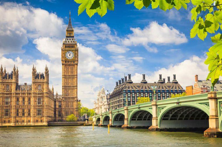 Big Ben at summer, London