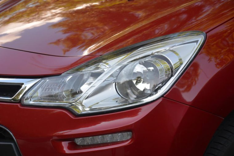red car front light