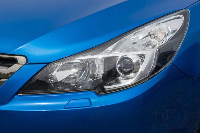 Lamp of the blue car