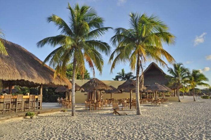 Beach in Chankanaab Park, Cozumel, Mexico
