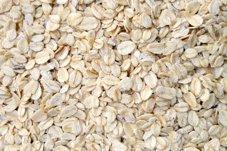 Oat flakes as background