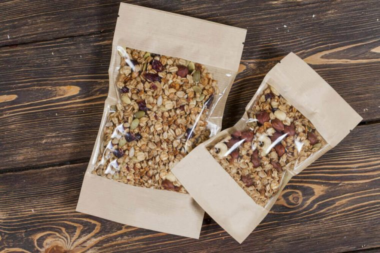 Granola in packing
