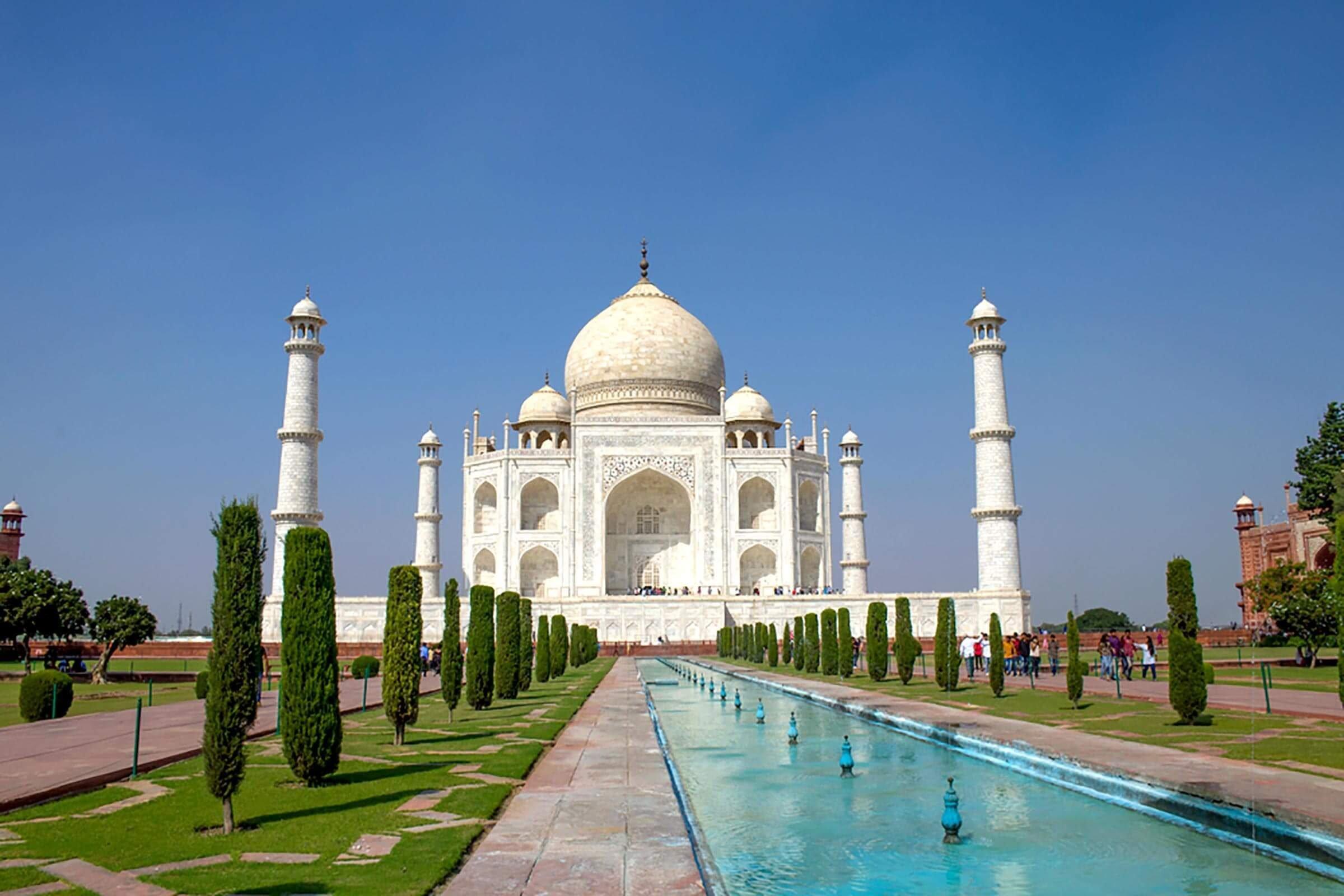 Taj Mahal the mausoleum in Agra India