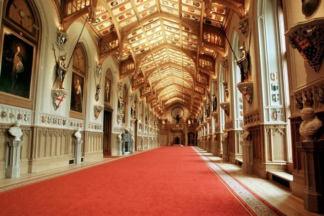 St George's Hall, Windsor Castle, England, Britain