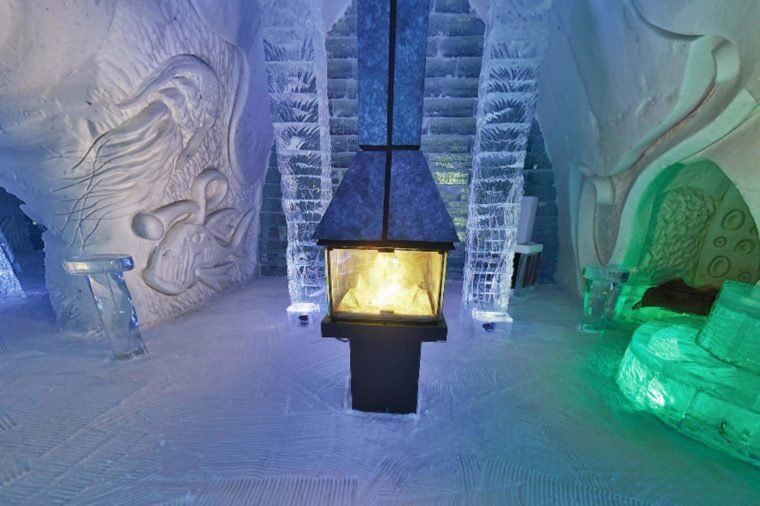 ice hotel fire