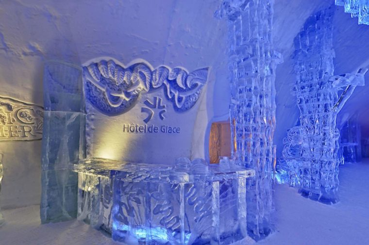 ice hotel front desk