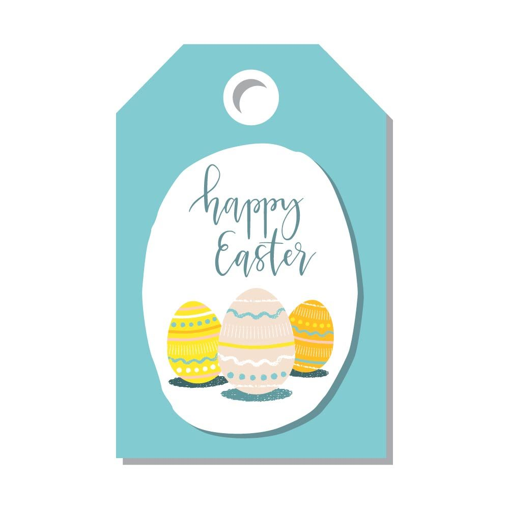 Printable easter card and gift tag templates readers digest easter egg gift tags negle Images