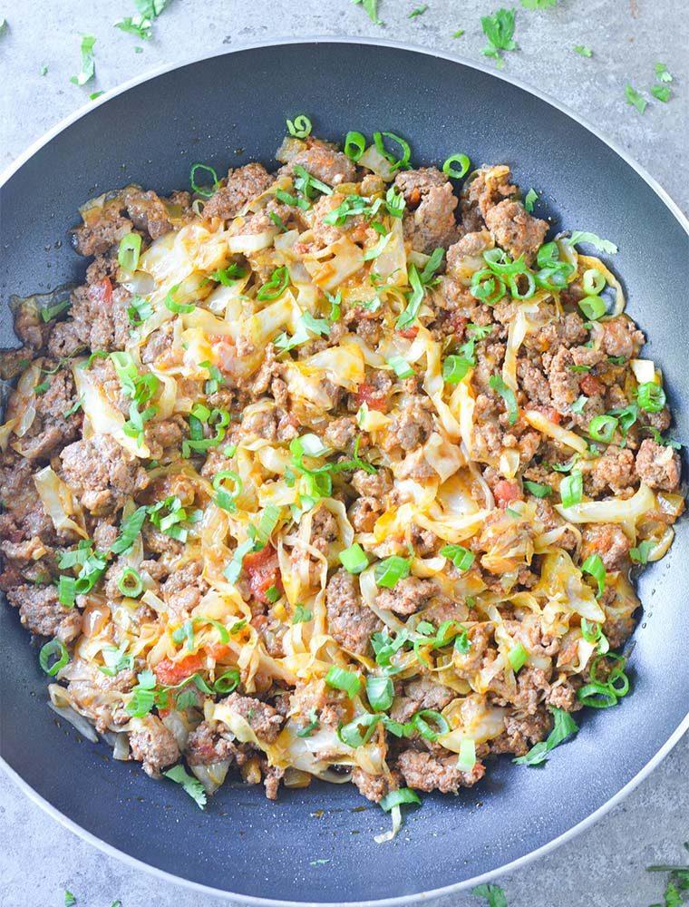 taco cabbage skillet