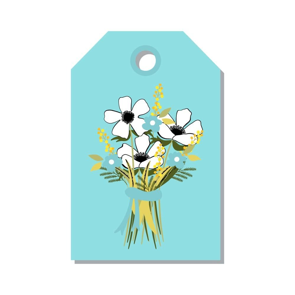 Printable easter card and gift tag templates readers digest floral easter name tags negle Image collections