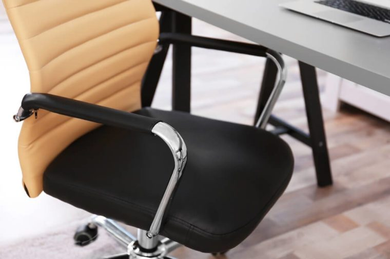 Modern workplace with office chair