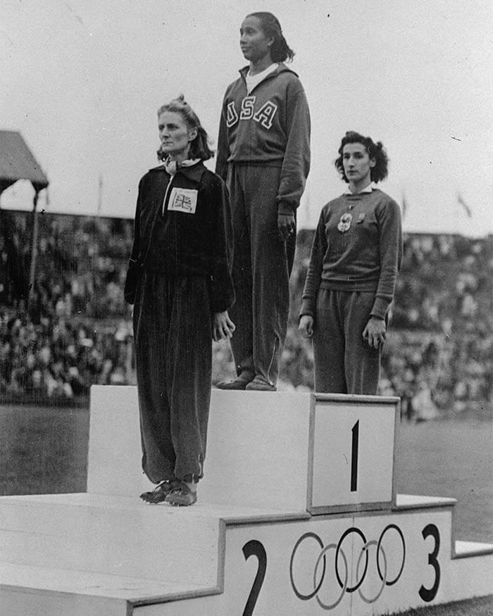 High Jumpers on Olympic Podium