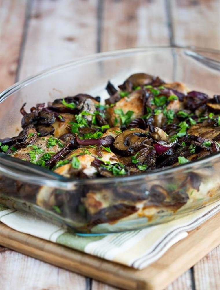 roasted chicken mushrooms