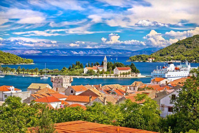 Scenic island of Vis waterfront, Dalmatia, Croatia