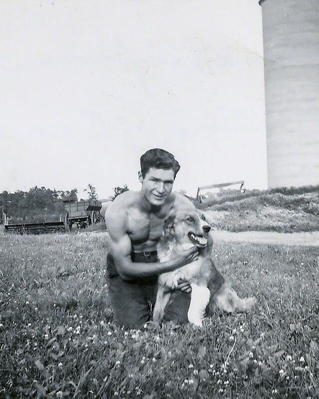 Everett with dog