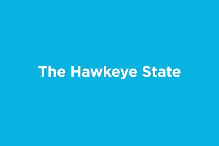the hawkeye state
