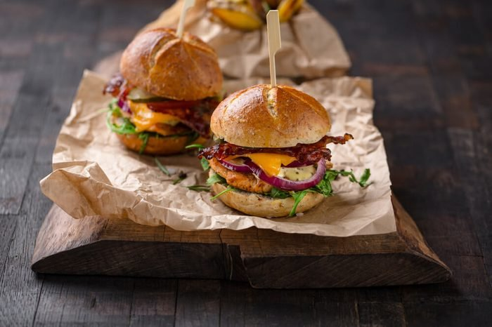 homemade burgers with grilled turkey