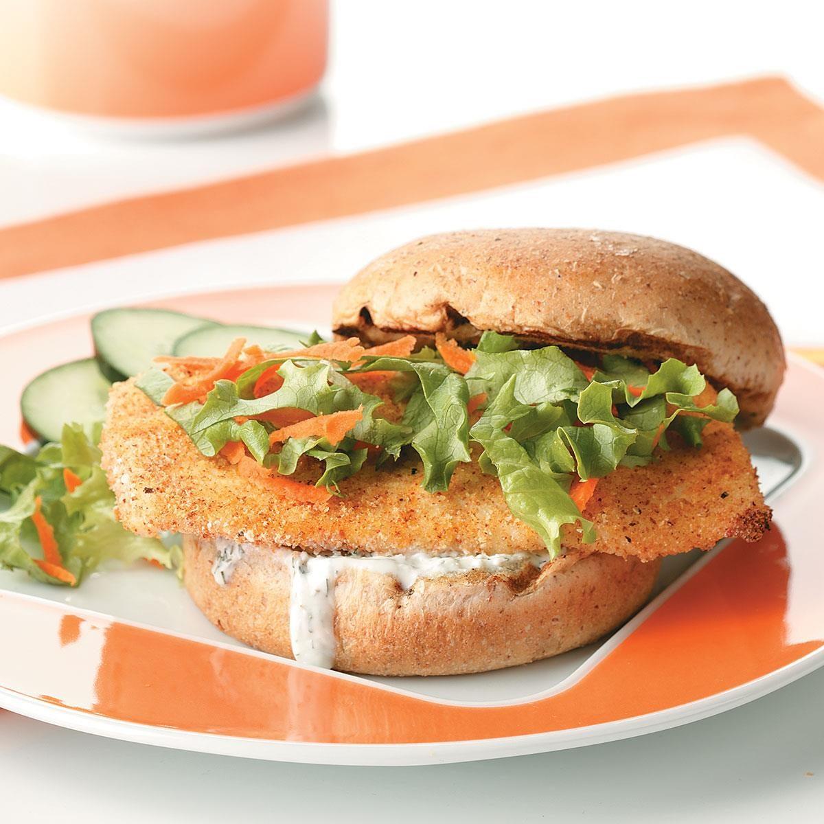 breaded fish sandwich