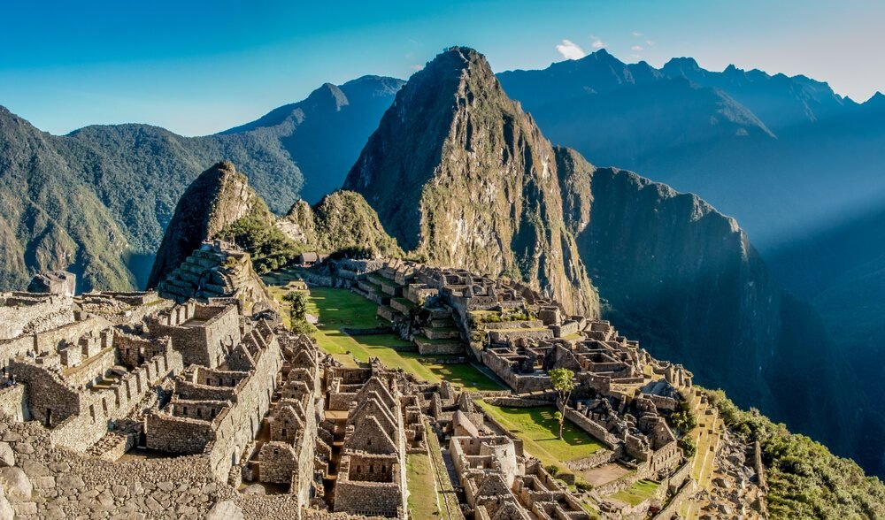 Machu Picchu panoramic view at dawn, Peru