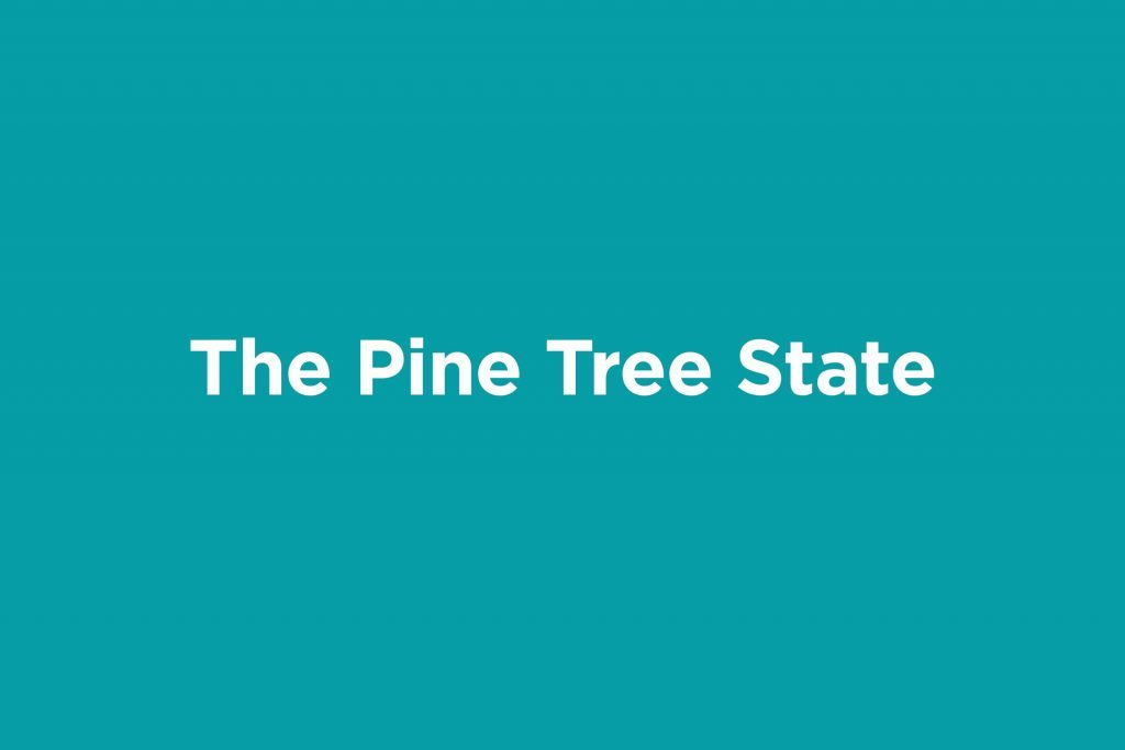 the pine tree state